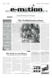 Bild der Jugendzeitung e-motion aus Erlangen